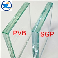 6.38mm clear and color  laminated glass for buliding