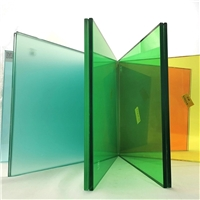 Color PVB grey tempered laminated building glass