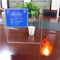 High borosilicate safety glass 10mm durable fire rated glass anti fire protection glass
