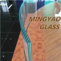 Bend Curved Tempered Laminated Glass