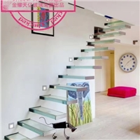 Glass stairs and flooring