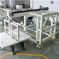 Fully automatic automotive glass cutting-breaking-grinding-drilling line