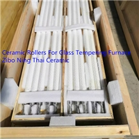 Fused Silica Ceramic Rollers Used In Glass Tempering Furnace