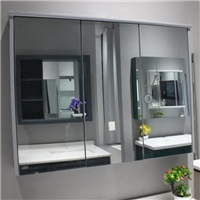 Kitchen Bathroom Wall Mounted Recessed Single Double Door Double Mirror Cabinet for Luxury Home Furniture