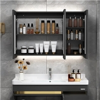 Frameless Mirror Wall Mounted Recessed Installation Medicine Mirror Cabinet with Glass Shelf