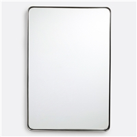 Stainless steel frame mirror with wall mounted