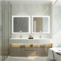 Square shape LED mirror with touch switch and Defogger