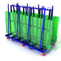 Stone / Glass A Shape Glass Rack ,Granite Steel A-frame rack cart