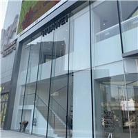 Luxury brand store shopfront jumbo oversized glass ultra clear low iron glass