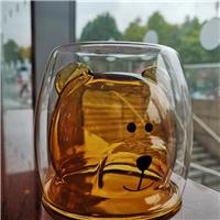 Made in China creative Bear cartoon coffee cup transparent built-in handmade glass
